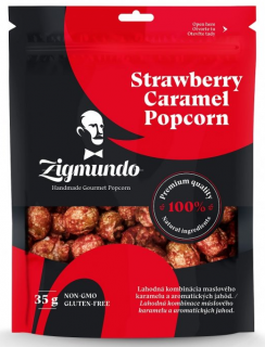 Popcorn Strawberry Caramel 35g